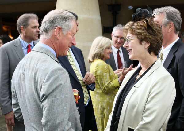 Maureen meeting Patron, HRH The Prince of Wales, at a charity event in 2011