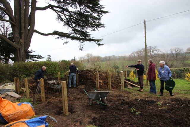 Rebuilding the compost area