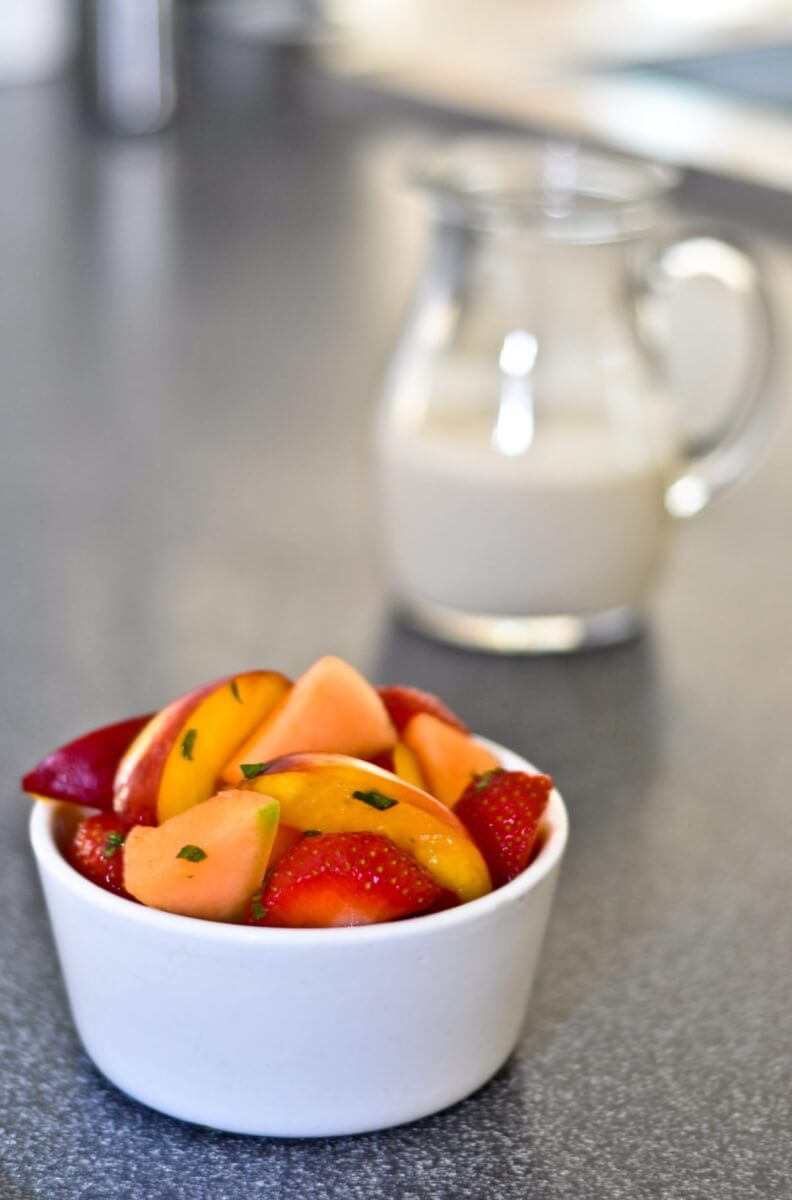 Fruit Salad with yoghurt or cashew nut cream 2