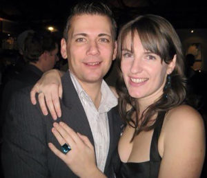Photo of our clients Andy and Jen in the evening