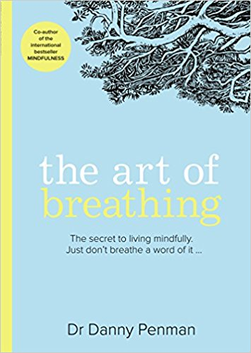 Photo of the Art of Breathing book with light blue frontcover