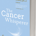 Photo of The Cancer Whisperer book with pale blue frontcover