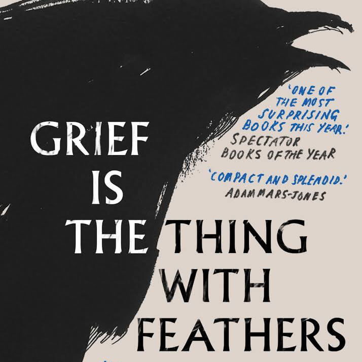 Photo of the book Grief is a thing with feathers with a front cover featuring a bird