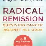 Photo of Radical Remission book with blue background
