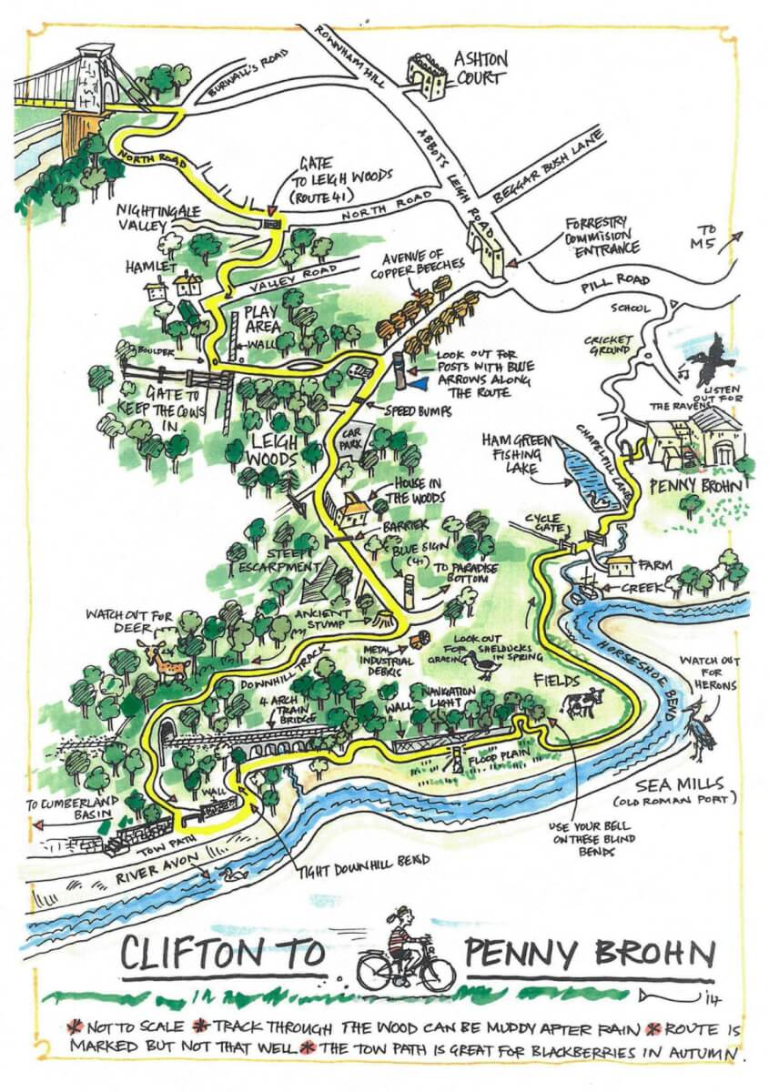 staying active by cycling: Clifton to Penny Brohn cycle path