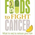 Front cover of Foods to Fight Cancer book with green and yellow copy
