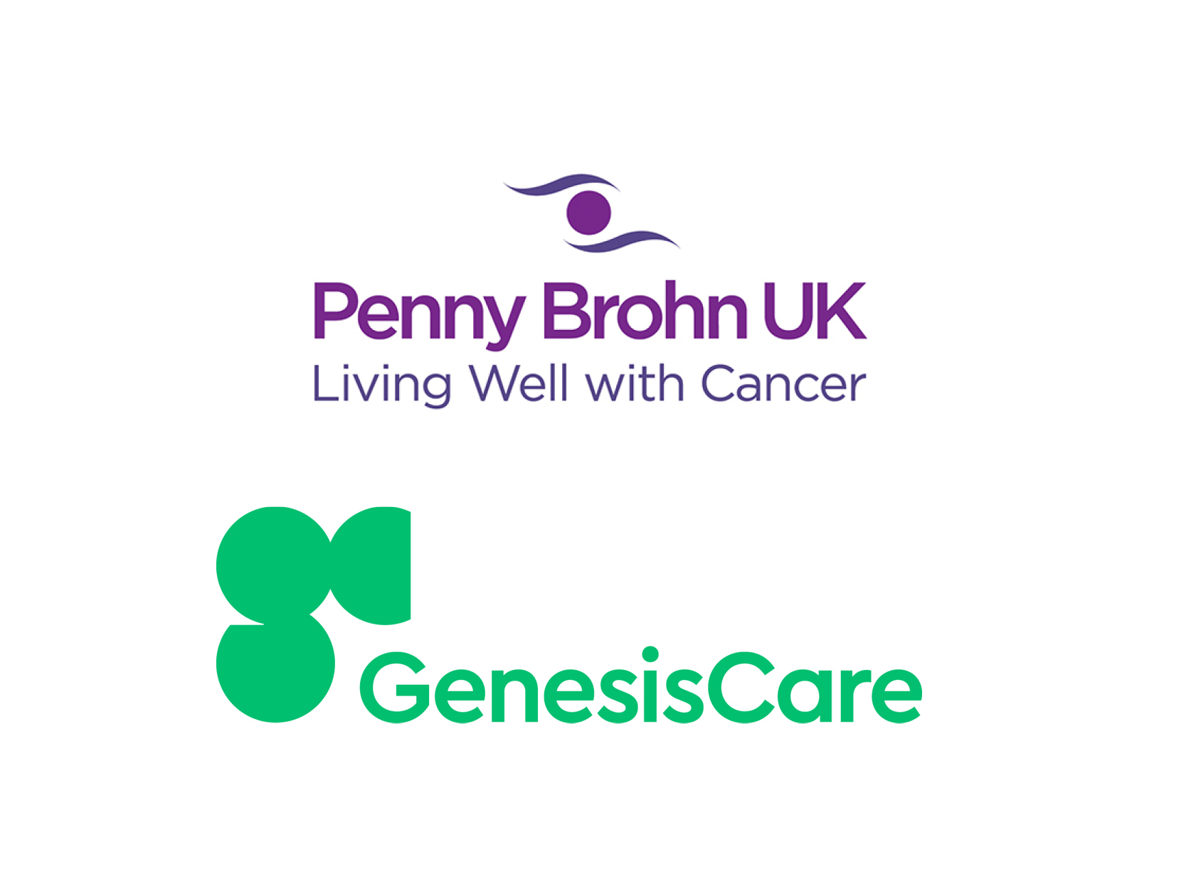 Joint logo for GenesisCare and Penny Brohn UK