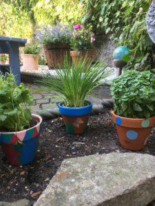 Garden Plant Pot Painting
