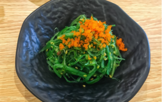 Arame (seaweed) with herbs and almonds