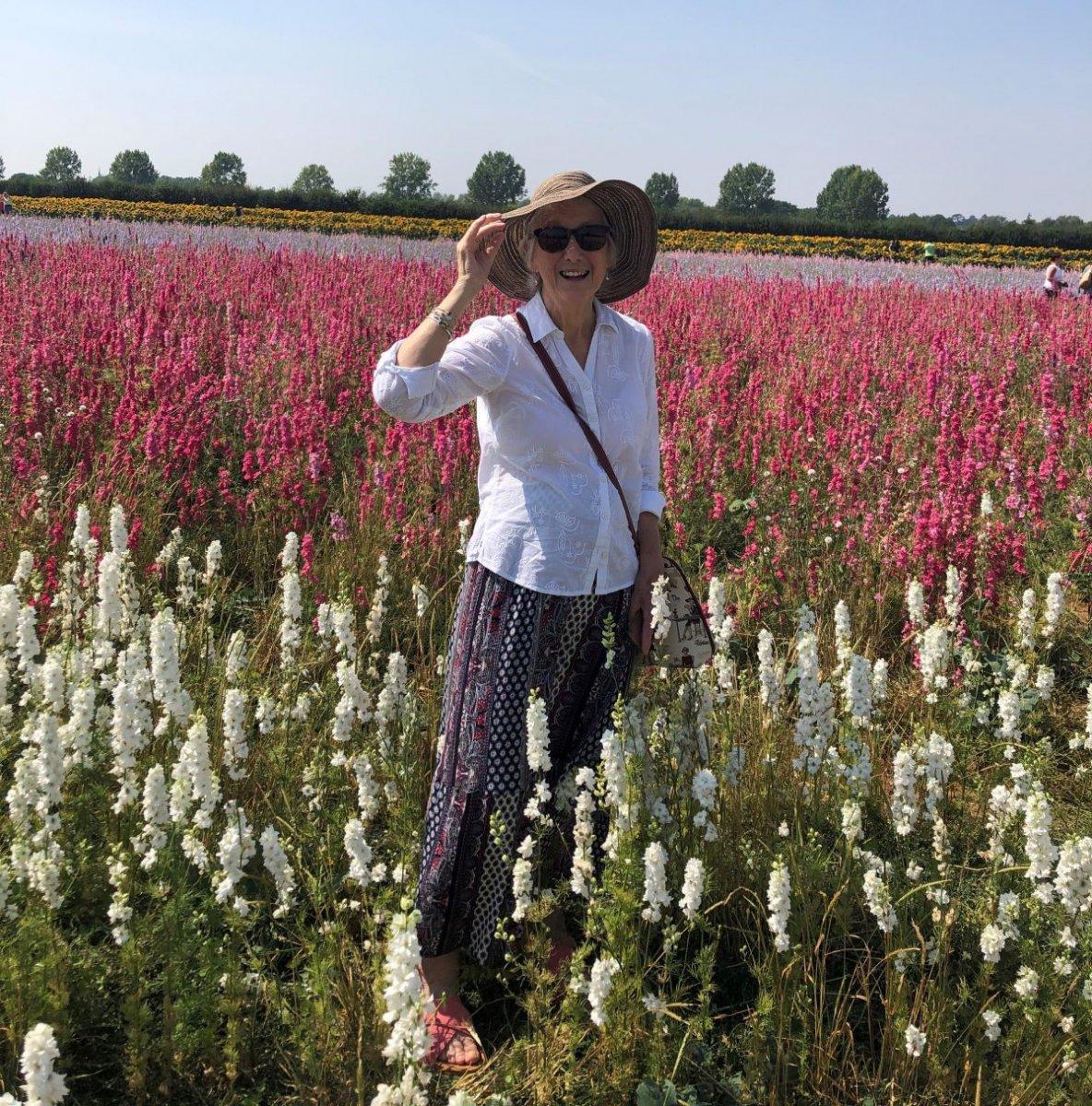 Marilyn in a field of flowers