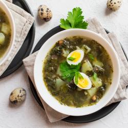 Sorrel, Lettuce & Watercress soup